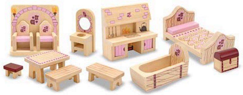 grosses puppenhaus zum mitnehmen inkl puppen und m bel. Black Bedroom Furniture Sets. Home Design Ideas