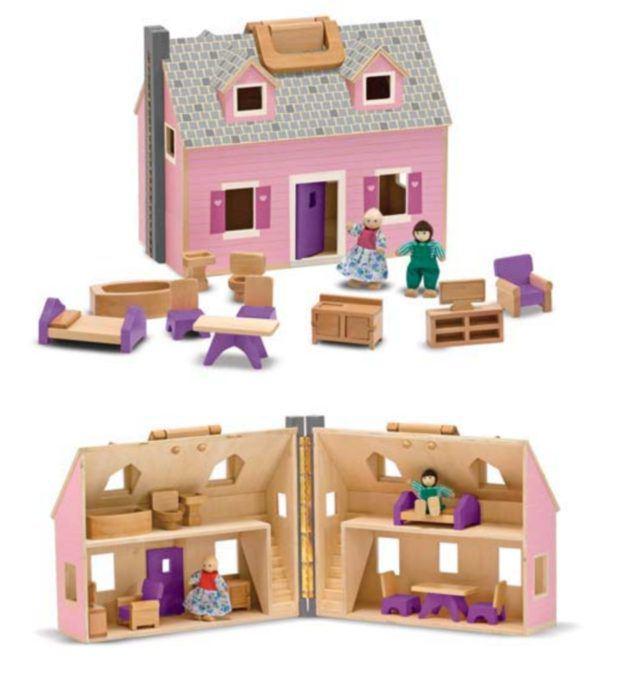 puppenh user grosses puppenhaus zum mitnehmen inkl puppen und m bel. Black Bedroom Furniture Sets. Home Design Ideas