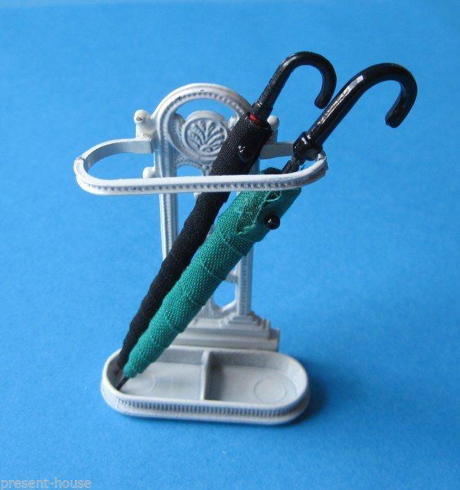 schirmst nder 2 regenschirme puppenhaus m bel miniaturen 1. Black Bedroom Furniture Sets. Home Design Ideas