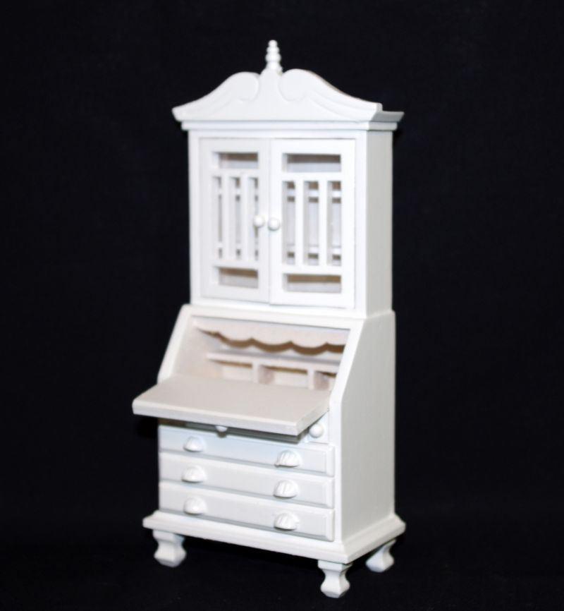 sekret r geschirrschrank weiss edel puppenhausmoebel. Black Bedroom Furniture Sets. Home Design Ideas