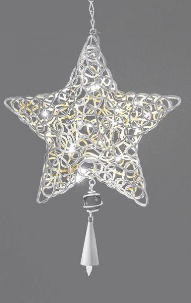 dekoh nger weihnachtsstern metall mit led beleuchtung creme 25 cm. Black Bedroom Furniture Sets. Home Design Ideas