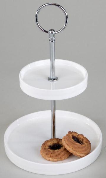 etagere in wei aus porzellan zweist ckig 23 cm von sandra rich. Black Bedroom Furniture Sets. Home Design Ideas
