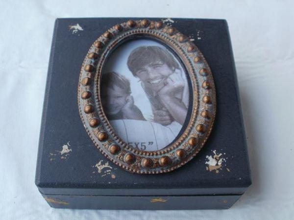 aufbewahrungsbox shabby chic aus holz und glas 15 cm von pajoma. Black Bedroom Furniture Sets. Home Design Ideas