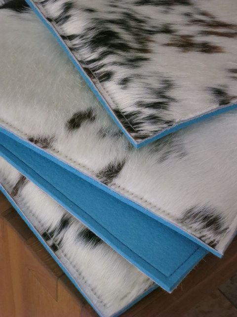 Sitzauflage cow stuhlauflagen aus filz und kuhfell - Stuhlauflage filz ...