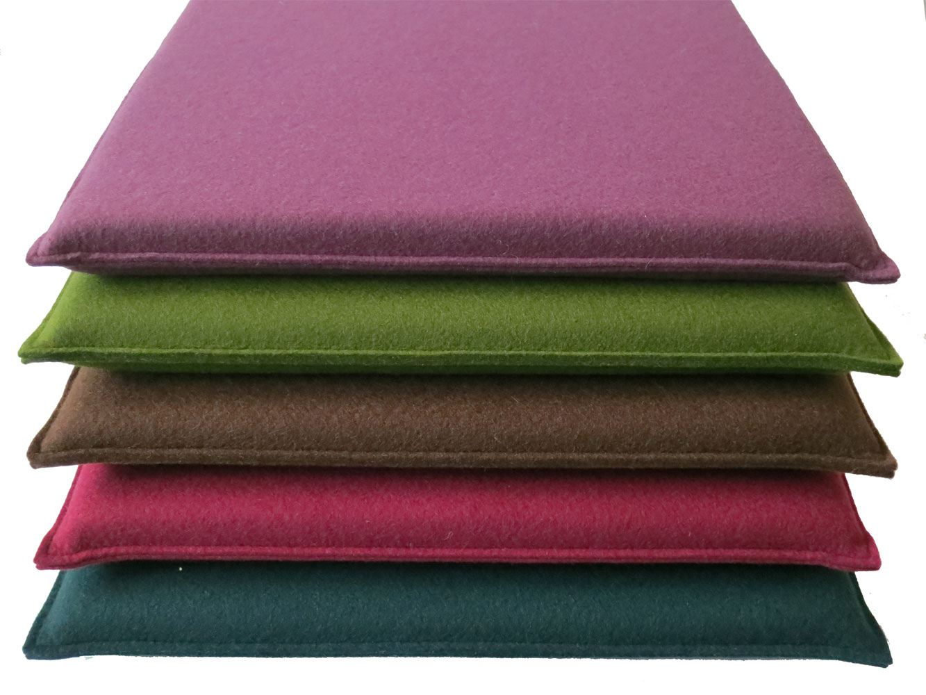 quadratische sitzkissen aus filz 40 x 40 cm in 44 vielen farben. Black Bedroom Furniture Sets. Home Design Ideas