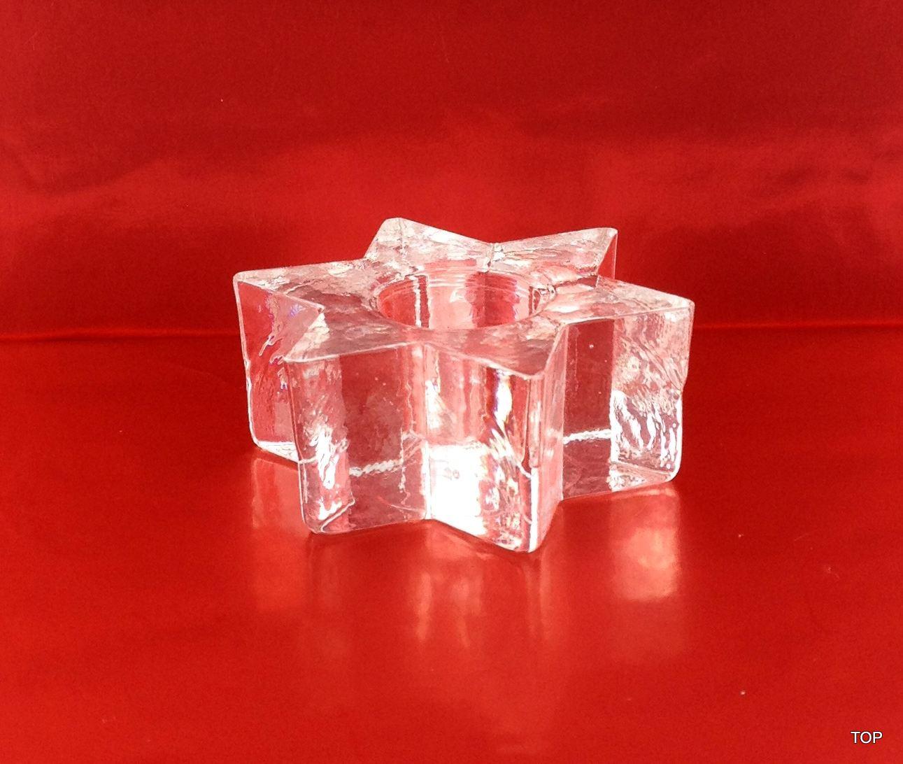 Glas Kerzenhalter Glas Sternenf Rmig 6 5 Cm Kerzenst Nder