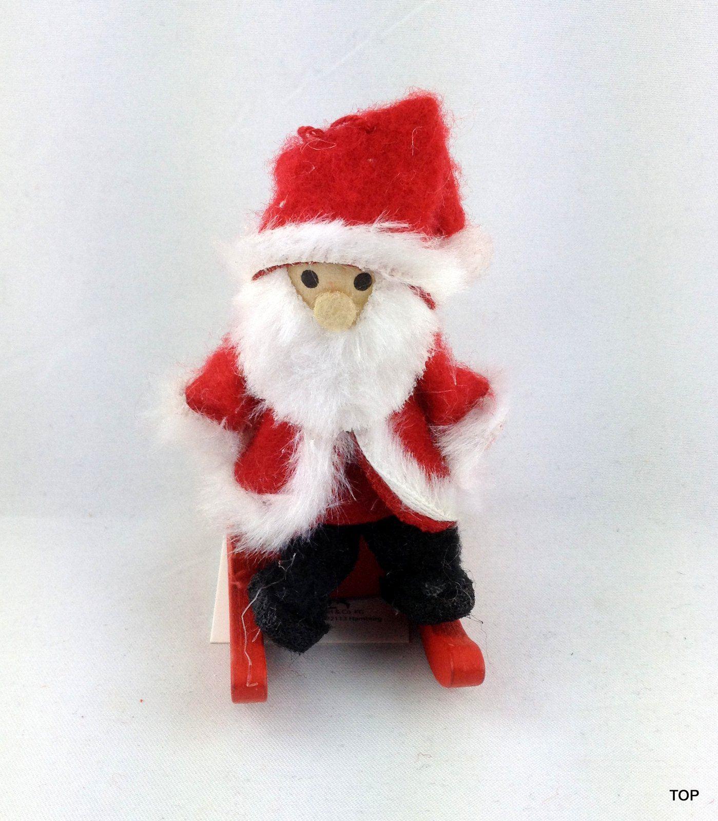 nikolaus auf einem schlitten zum aufh ngen weihnachten von amsel. Black Bedroom Furniture Sets. Home Design Ideas