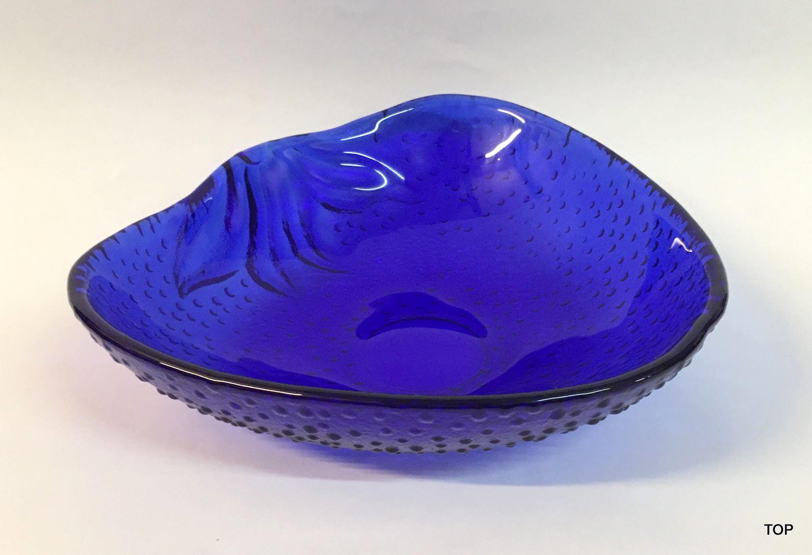 schale glasschale apfelform mit struktur leicht wei geflammt farbe blau lafeo. Black Bedroom Furniture Sets. Home Design Ideas
