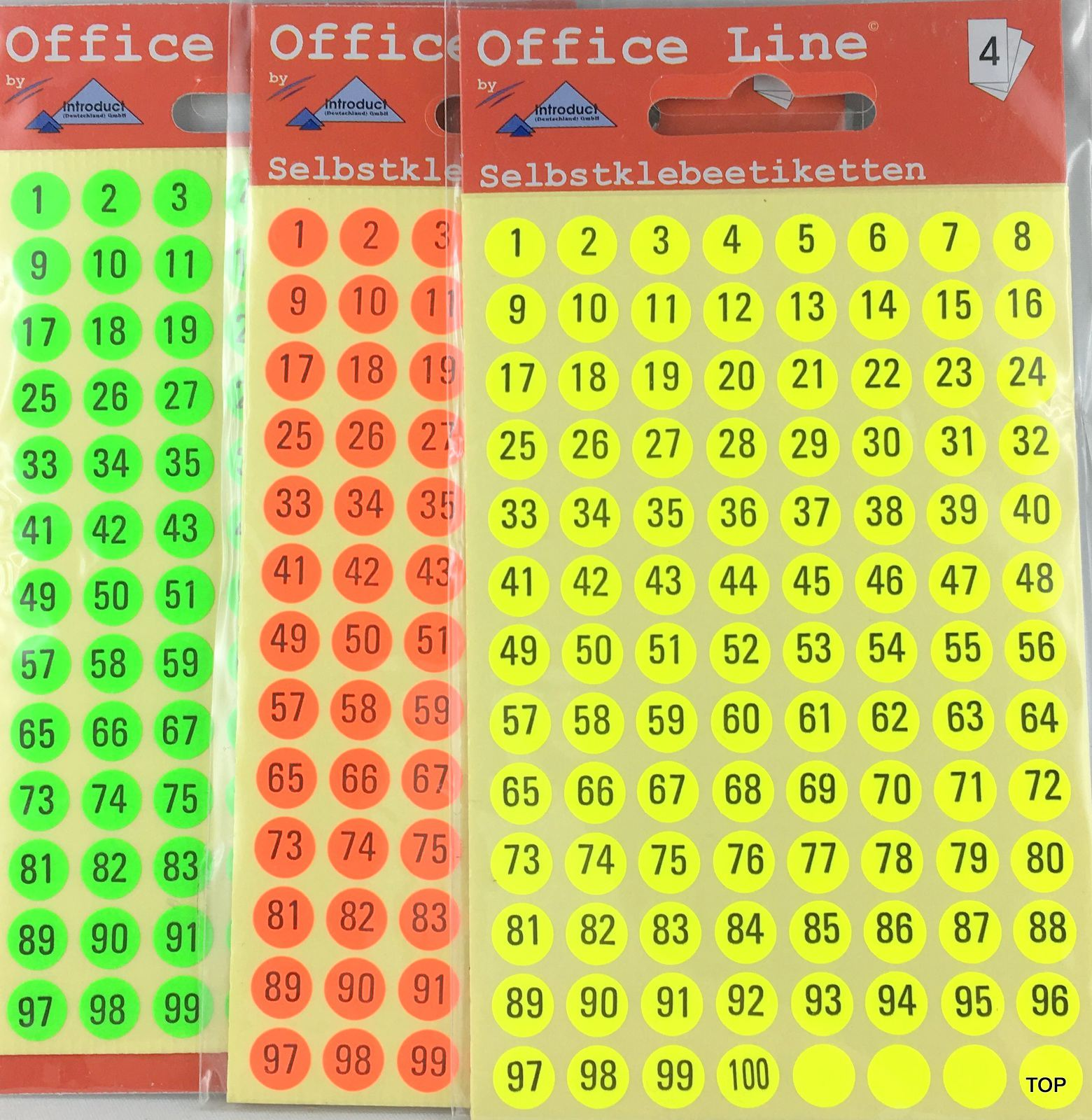 Zahlen Runde Etiketten 5 mm Klebesticker Selbstklebend von