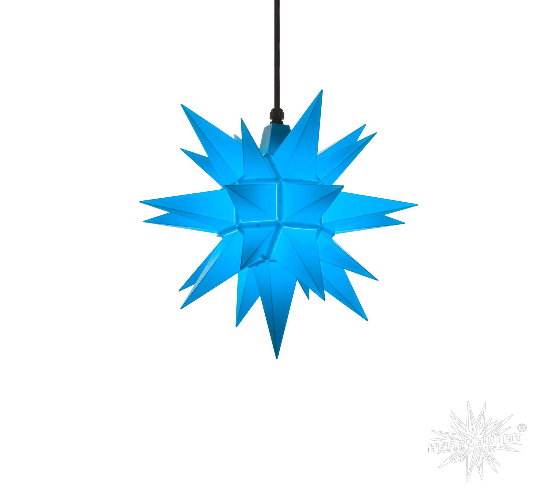 a4 blau kunststoff herrnhuter stern f r au en und innen. Black Bedroom Furniture Sets. Home Design Ideas