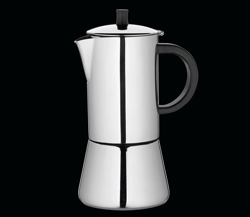 espressokocher figaro f r 4 tassen espresso mokka kochen edelstahl kaffee. Black Bedroom Furniture Sets. Home Design Ideas