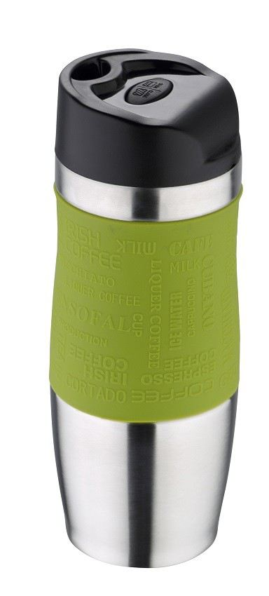thermobecher gr n edelstahl 400 ml thermo coffee to go. Black Bedroom Furniture Sets. Home Design Ideas