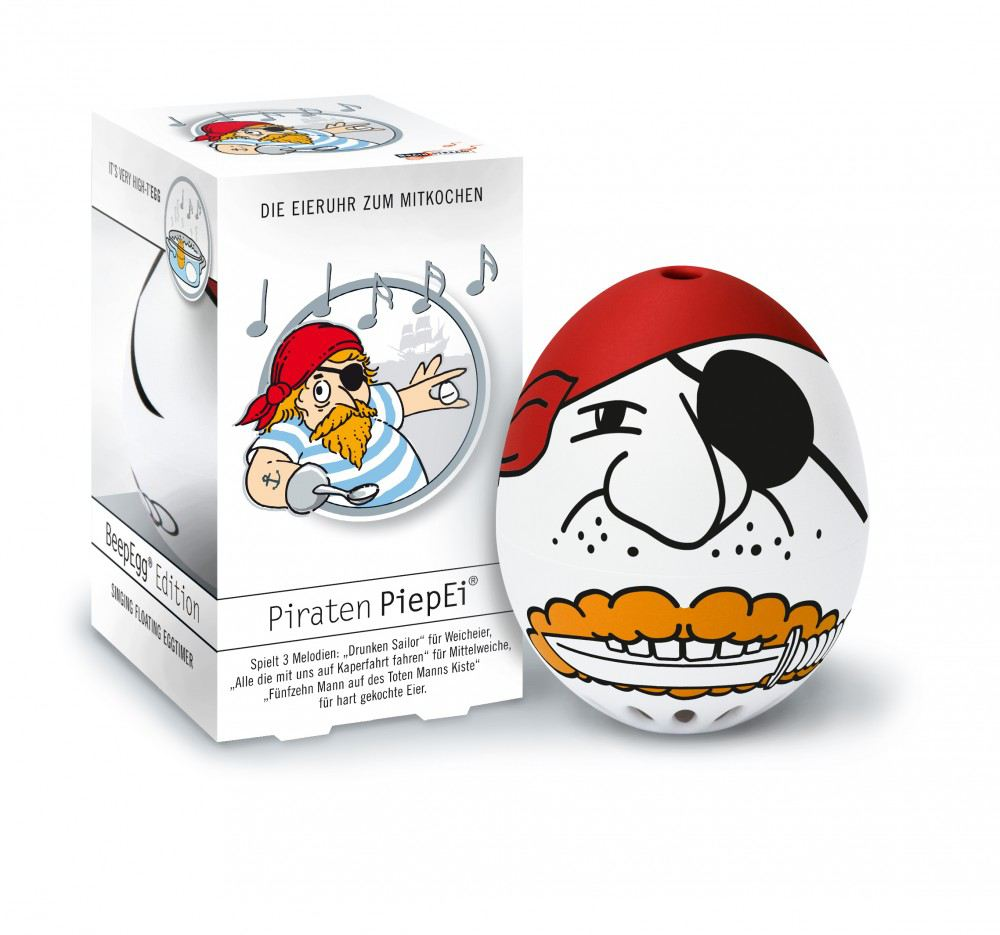 Piepei piraten piep ei eierkocher eieruhr 3 in 1 fr hst cksei eier kochen shanty freibeuter - Ei kochen mit eierkocher ...