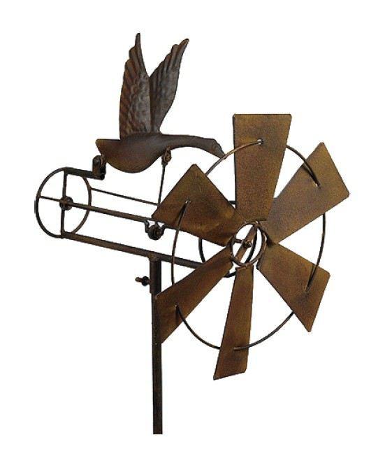 Windspiel gans garten dekoration deko metall drau en balkon terrasse skulptur statue - Skulptur metall garten ...