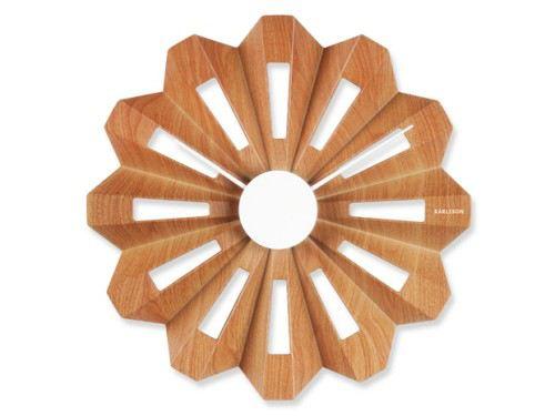 Wanduhr Lotus Flower Holz Uhr Wand Von Karlsson