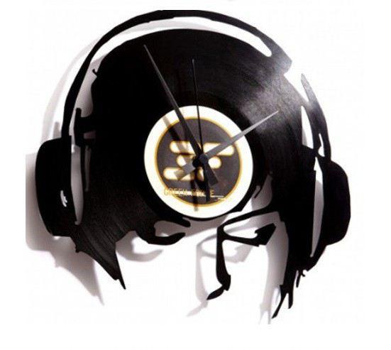 Wanduhr schallplatte djane work dj djane dekoration uhr vinyl platte retro deko lp langspielplatte - Wanduhr schallplatte ...