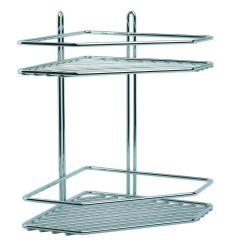 duschregal 3 b den duschkorb duschablage metall rostfrei h ngeregal ohne bohren wohnen leben. Black Bedroom Furniture Sets. Home Design Ideas