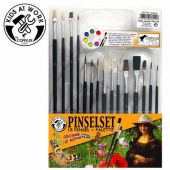 Pinselset 15 Pinsel + Palette