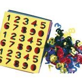 EDUPLAY Moosgummi-Zahlen klein 150 Stück, farbig