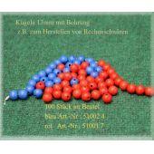 Holzkugeln 13mm mit Bohrung, blau, 100 Stück