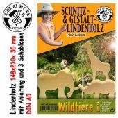 KIDS AT WORK Schnitzholz Wildtiere 1, groß