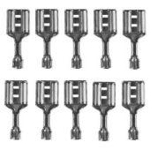 Flachsteckhülsen für Flachbatterieen, 10 Stück