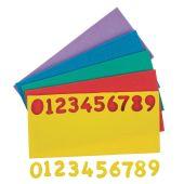 Moosgummi-Zahlen klein, 150 Stück farbig
