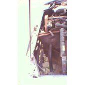 Frontblech Front VW Passat / Santana 32B 5 Zyl. - 9.80 - 8.88 Abschnitt silberblau - Reparaturblech / Karosser