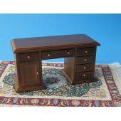 Schreibtisch braun Puppenhausmöbel Miniaturen 1:12