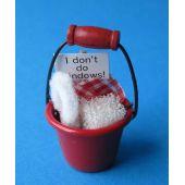 Putzeimer gefüllt,  Puppenhausdekoration Miniatur 1:12