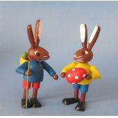 Hasenpaar 5 cm Osterhasen Kinder Erzgebirge Seiffen