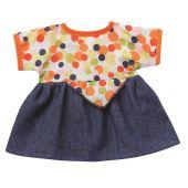 Sommerkleid bunte Punkte  Puppenkleidung für 24-26 cm Schwenk