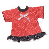 Sommerkleid weisse Punkte Puppenkleidung für 24-26 cm Schwenk