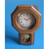 Wanduhr mit Pendel  Puppenhausmöbel Dekoration Miniaturen 1:12