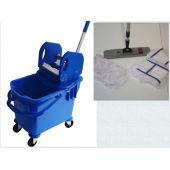 Wischset Vera blau Magic click 40 cm, Putzeimer, Presse und Inneneimer, Mopset Magic click 40