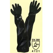 Teichpflegehandschuh / Sandstrahlhandschuh aus schwarzem PVC Herrengrösse