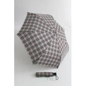 Happy Rain karierter Automatik Regenschirm schwarz weiß 46859