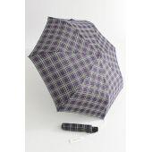 Happy Rain karierter Automatik Regenschirm blau 46859