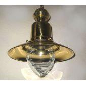 **Elegante Messing- Schiffslampe - Schiffsleuchte - Hängelampe H 35 cm/  27cm