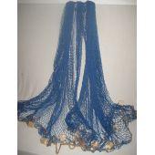 **XXL- Fischernetz mit Schwimmern - 2,5x 2,5 m- blau