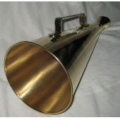 **Großes Sprachrohr/Flüstertüte aus Messing- 34 cm