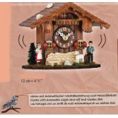 Kuckucksuhr- HEIDI+PETER Tischuhr mit Kuckucksruf - Cuckoo Clocks- Schwarzwald