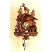 Original Schwarzwald-Pendeluhr-Kuckucksuhr mit Nachtabs - Cuckoo Clocks-Black Forest