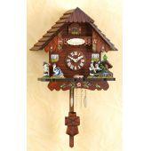 Original Schwarzwald-Pendeluhr-MUSIKER- Kuckucksuhr mit Nachtabs - Cuckoo Clocks-Black Forest