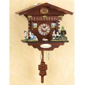 Original Schwarzwald-Pendeluhr-MUSIKERGRUPPE- Kuckucksuhr mit Nachtabs - Cuckoo Clocks-Black Forest