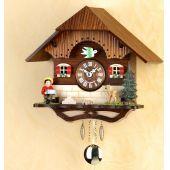 Original Schwarzwald- MUSIZIERENDER BUB- Kuckucksuhr mit Nachtabs - Cuckoo Clocks- Schwarzwald