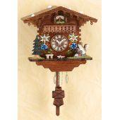 Original Schwarzwald-Pendeluhr- Kuckucksuhr mit Nachtabs - Cuckoo Clocks-Black Forest