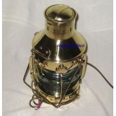**Massive Ankerlampe - Messing H 39 cm- elektrisch
