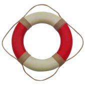 **Rettungsring rot/creme bemalt,  50 cm, Antikdesign