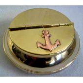 **maritimer Aschenbecher - Messing - mit Ankermotiven